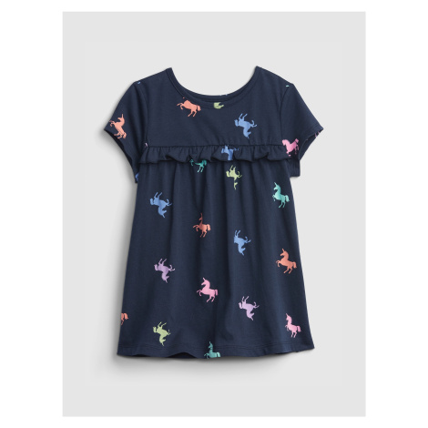 GAP niebieski dziewczęce koszulka Unicorn