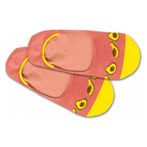 DillySocks Skarpetki stopki 'Hidden Avocado' żółty / różowy pudrowy
