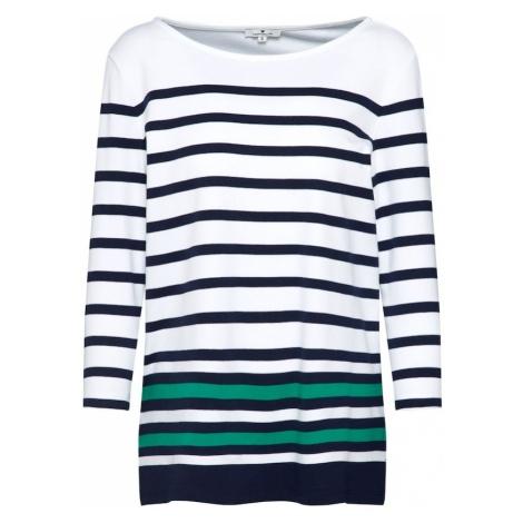 TOM TAILOR Koszulka niebieska noc / zielony / biały