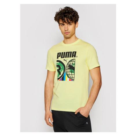Puma T-Shirt Intl 599804 Żółty Regular Fit
