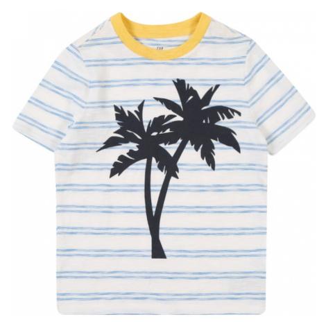 GAP Koszulka jasnoniebieski / żółty / offwhite