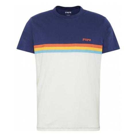 Pepe Jeans Koszulka 'TREY' offwhite / ciemny niebieski