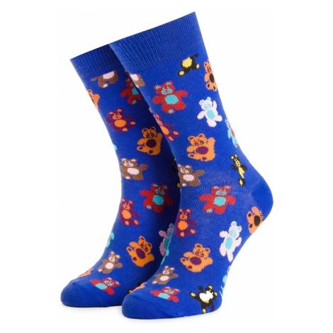 Skarpety Wysokie Unisex HAPPY SOCKS - TED01-6300 Kolorowy Niebieski