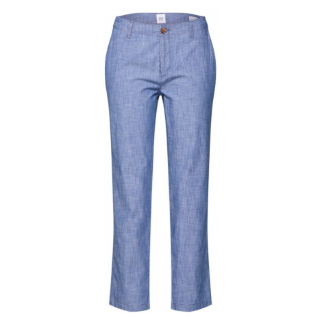 GAP Spodnie 'V-GIRLFRIEND KHAKI CHAMBRAY' indygo