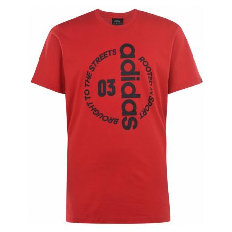 Adidas Circle Linear QT Mens T Shirt