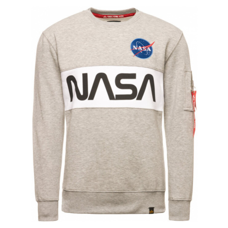 Alpha Industries Bluza Nasa 178308 Szary Regular Fit