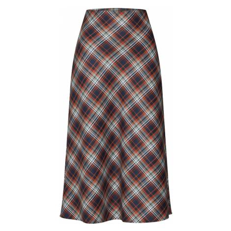EDITED Spódnica 'Cana' rdzawobrązowy / niebieski