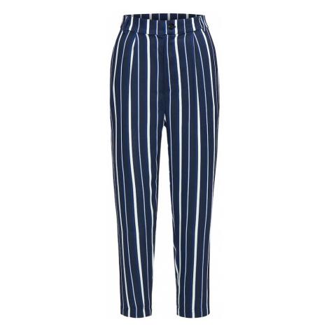 BROADWAY NYC FASHION Spodnie 'Pants Poppy' ciemny niebieski / biały