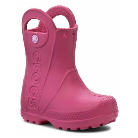 Kalosze CROCS - Handle It Rain Boot Kids 12803 Candy Pink