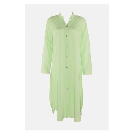 Trendyol Light Green Shirt Form Beach Dress