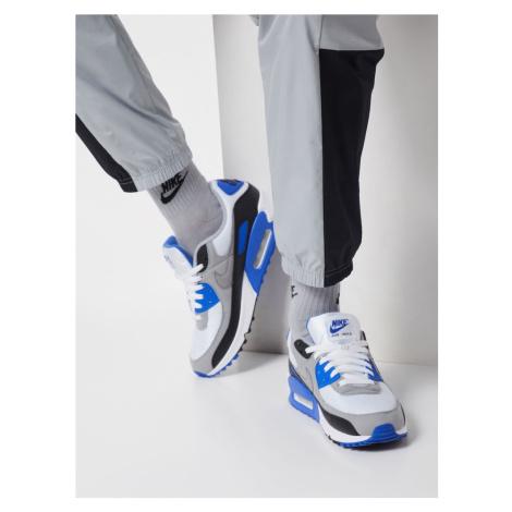 Nike Sportswear Trampki niskie 'Air Max 90' królewski błękit / biały / szary
