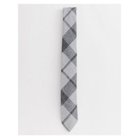 Twisted Tailor tie with grey check