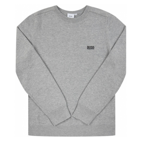 Boss Sweter J25E13 Szary Regular Fit Hugo Boss