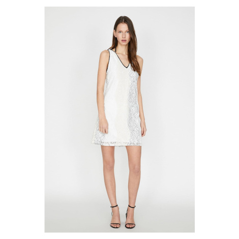Koton Kobiety Biała sukienka