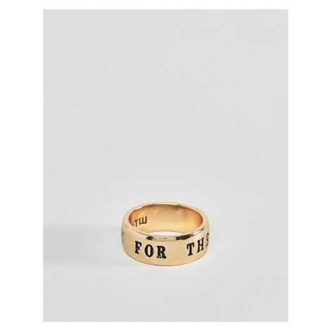 WFTW Band Ring In Gold