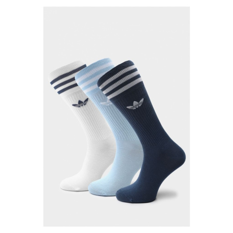 Skarpety 3Pack adidas Solid Crew Sock 624 Night Marine/clear Sky/white