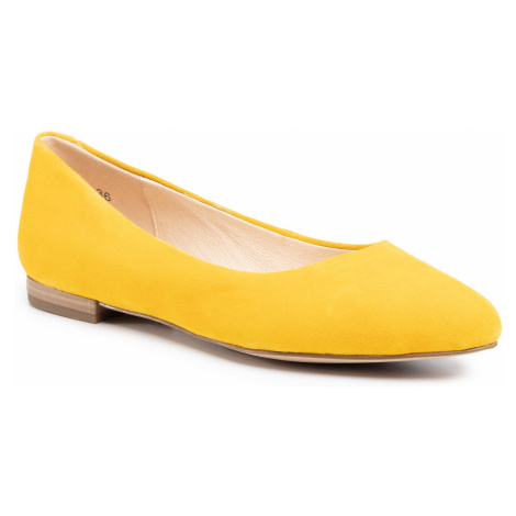 Baleriny CAPRICE - 9-22104-24 Yellow Suede 641