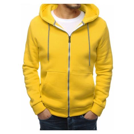 Bluza męska PREMIUM gładka żółta BX4335 DStreet