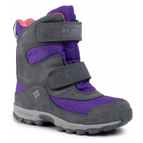 Śniegowce COLUMBIA - Youth Parkers Peak Boot YY5409 Emperor/Wild Salmon 512