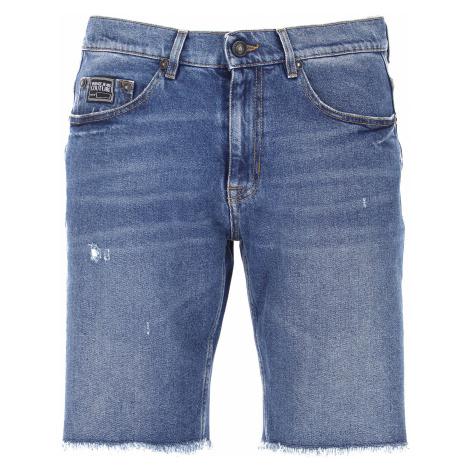 Versace Jeans Couture Uroda Na Wyprzedaży, niebieski denim, Bawełna, 2021