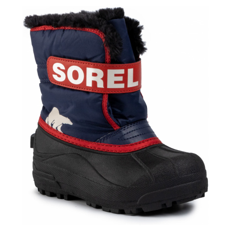Śniegowce SOREL - Childrens Snow Commander NC1960 Noctural/Sail Red 591