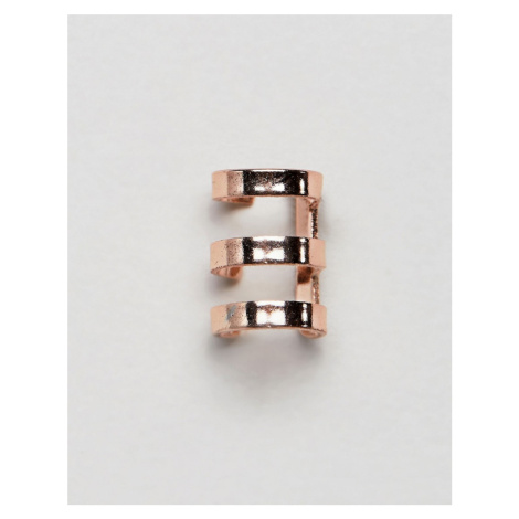 Icon Brand ear cuff in rose gold