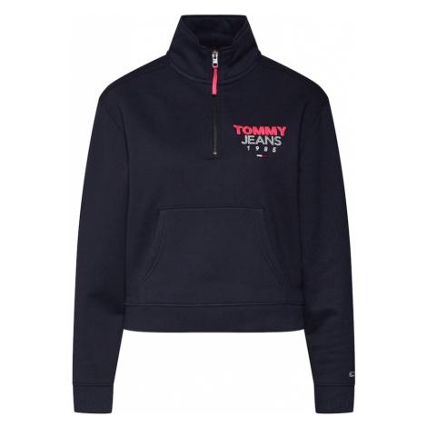 Tommy Jeans Bluzka sportowa 'Logo Quarter Zip' czarny Tommy Hilfiger