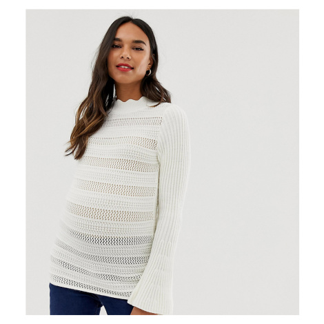 ASOS DESIGN Maternity flared sleeve stitch detail jumper
