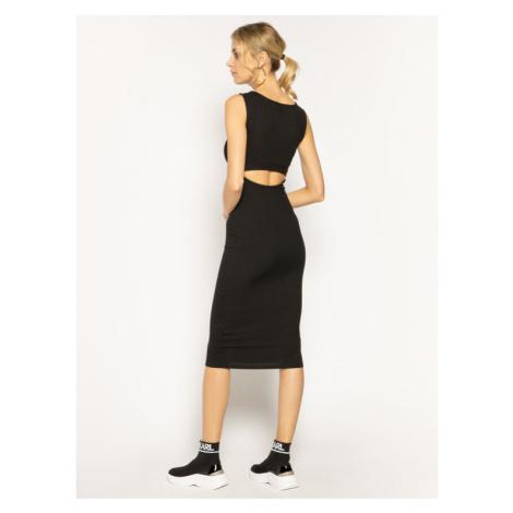 Guess Sukienka dzianinowa Shivia W0GK78 K86Z0 Czarny Slim Fit