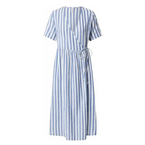 PIECES Sukienka 'Malia' niebieski / biały