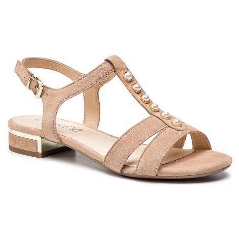 Sandały CAPRICE - 9-28112-22 Beige Suede 404