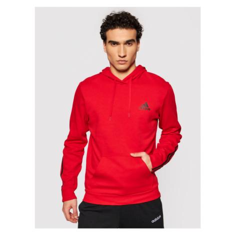 Adidas Bluza Essentials Double Knit GP8599 Czerwony Regular Fit