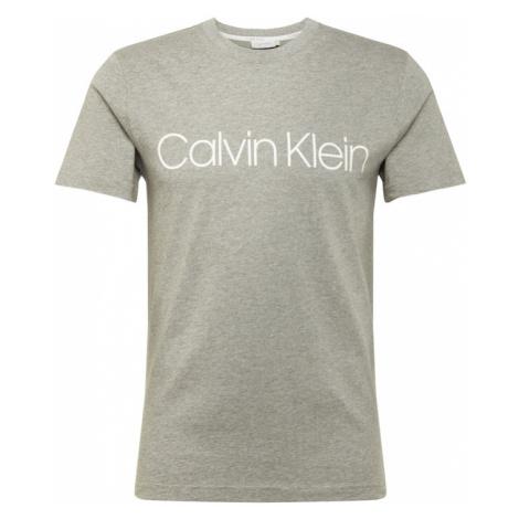 Calvin Klein Koszulka nakrapiany szary / biały