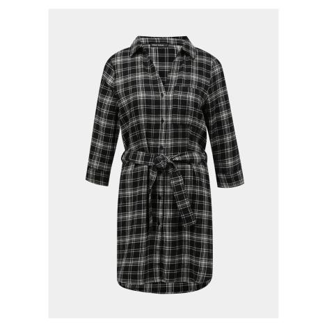 Tally Weijl czarno-szara sukienka koszulowa w kratkę