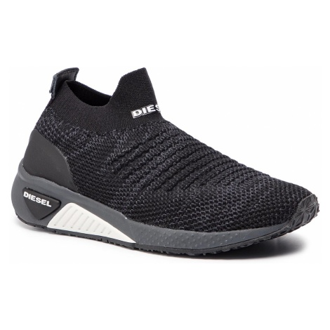 Sneakersy DIESEL - S-Kb Athl Sock W Y01876 P2199 H3800 Black/Grey