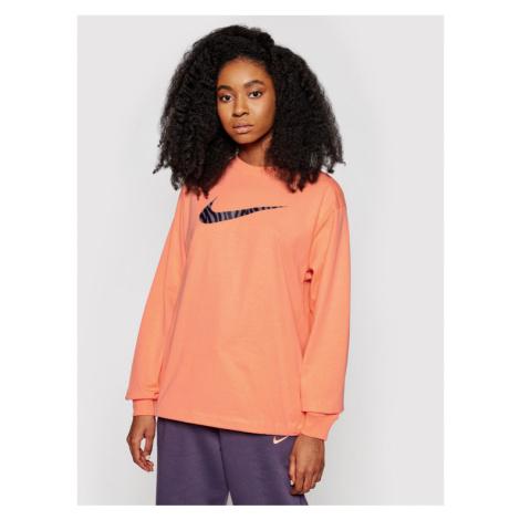 Nike Bluza Icon Clash DC5294 Pomarańczowy Loose Fit