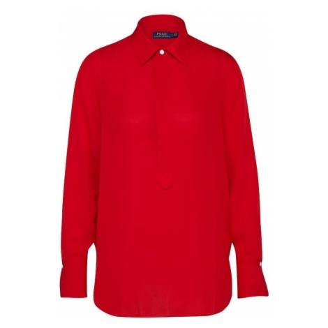 POLO RALPH LAUREN Bluzka 'LONG SLEEVE-SHIRT' czerwony