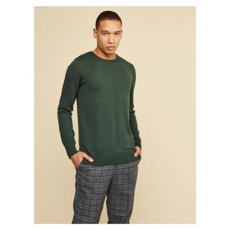 ZOOT Baseline ciemno zielony basic sweter męski Ferit