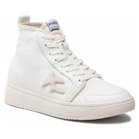 Sneakersy PINKO - Liquirizia High PE 21 BLKS1 1H20V5 Y739 Bianco Z14