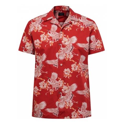 SELECTED HOMME Koszula szary / czerwony