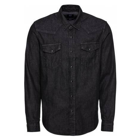 GAP Koszula 'WESTERN SHIRT BLACK' czarny denim