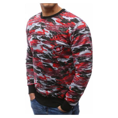 Czerwono-szara męska bluza moro BX3463