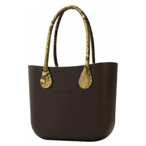 O bag torebka Testa di Moro z długimi żółtymi uchwytami ze skajki Snake