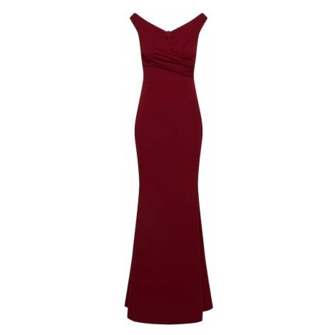 WAL G. Suknia wieczorowa czerwone wino