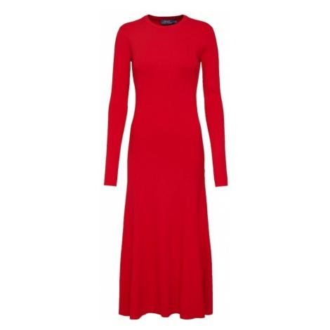 POLO RALPH LAUREN Sukienka 'LS DRESS-LONG SLEEVE-CASUAL DRESS' czerwony