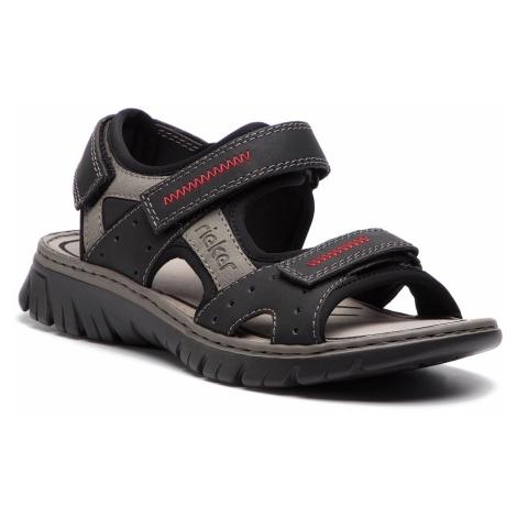 Sandały RIEKER - 26757-00 Schwarz Kombi