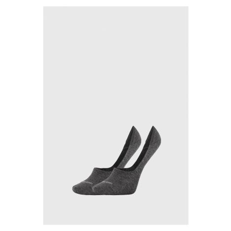 2 PACK damskich skarpetek Calvin Klein Jessica szare