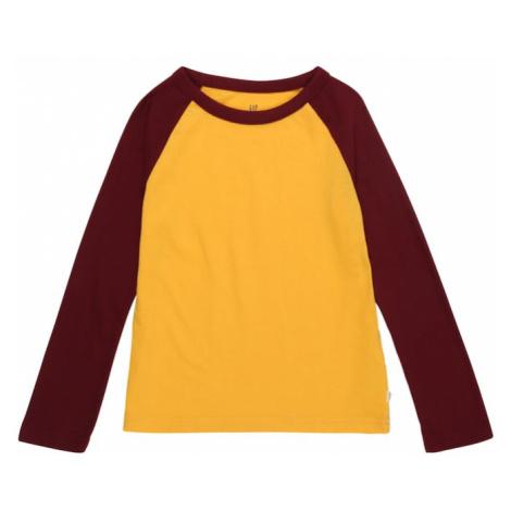GAP Koszulka żółty / burgund