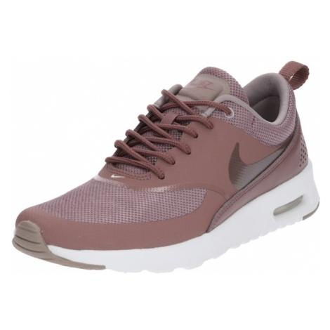 Nike Sportswear Trampki niskie 'Air Max Thea' mokka / bladofioletowy / biały