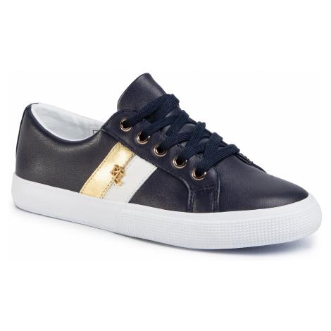 Sneakersy LAUREN RALPH LAUREN - Janson II 802794077002 Lauren Navy/Optic White/Rlgold